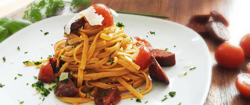 Chorizo Pasta - Spanish Style