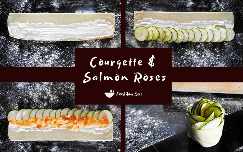 How To Make Salmon Courgette Roses