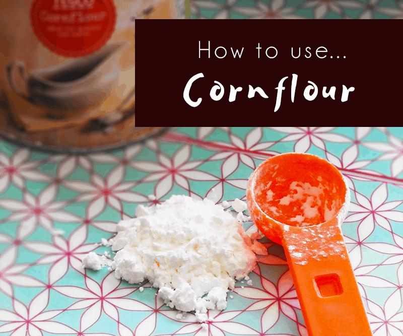 How to use cornflour
