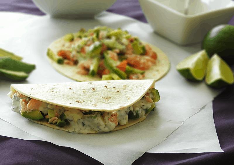 Salmon Tacos Tuna Cucumber Salsa