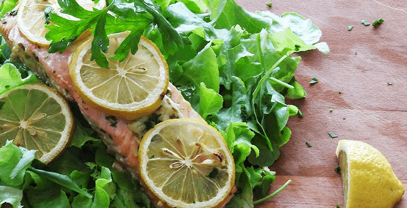 Salmon Rocket Salad
