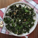 Baked Kale Almond Garlic