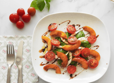 Balsamic Peach Caprese