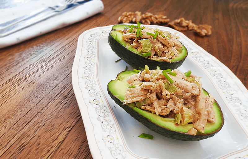 Chicken Tikka Curry Stuffed Avocados
