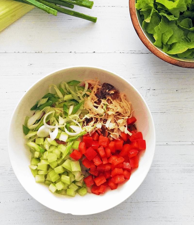 Coleslaw Salad Tuna Bacon