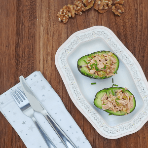chicken tikka stuffed avocados