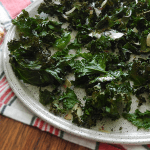 Garlic Almond Baked Kale