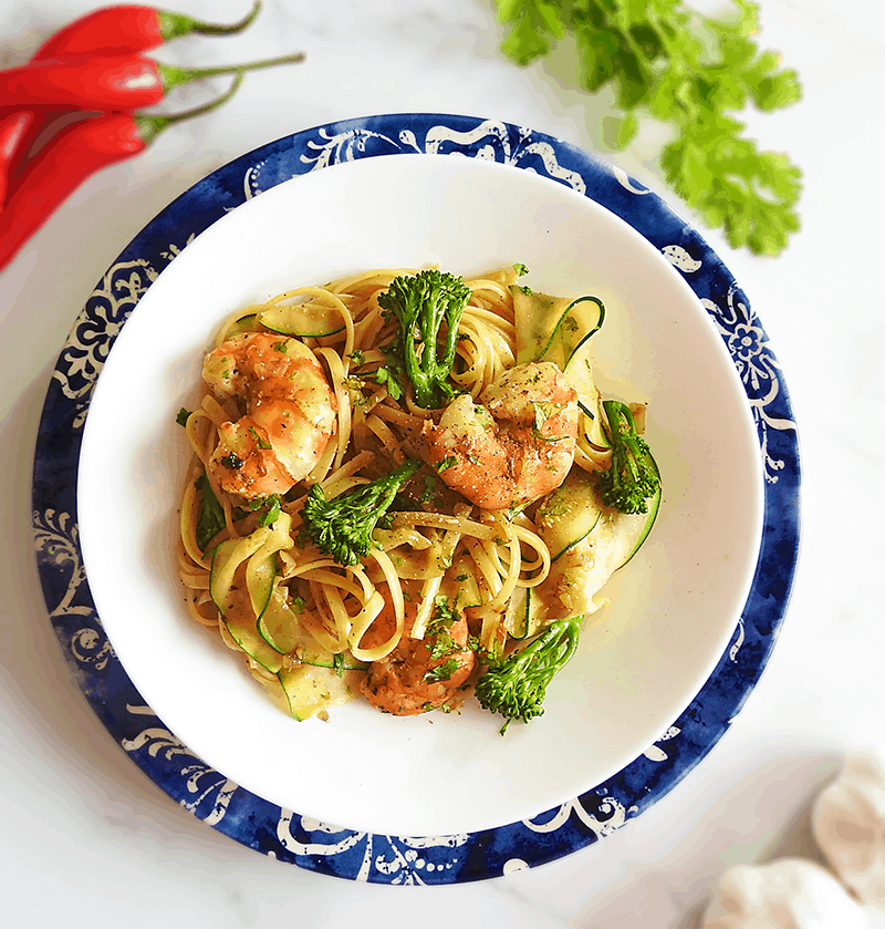 King Prawn Chilli Garlic Pasta