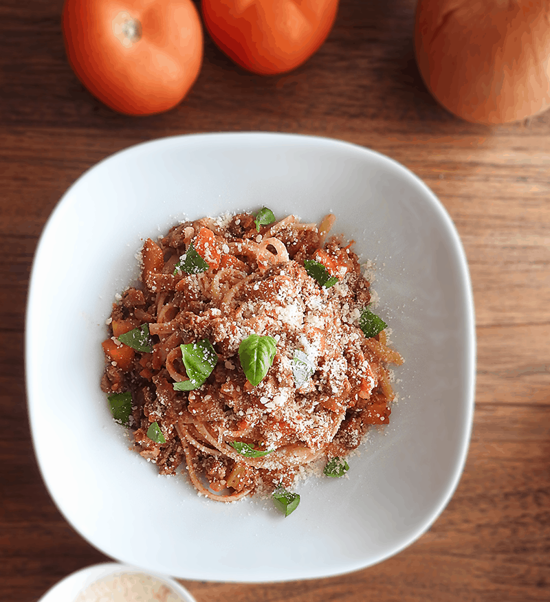 Linguine with Bolognese