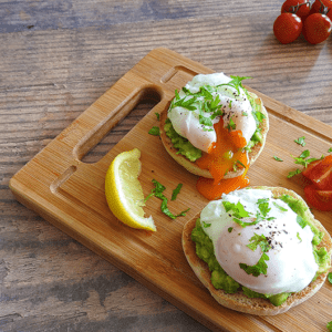 Poached Egg Avocado Muffin