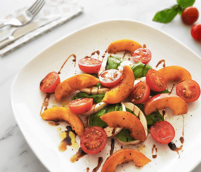 Peach Balsamic Caprese