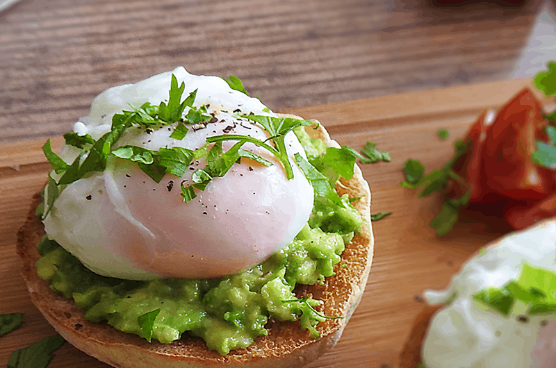Avocado & Poached Egg Muffins