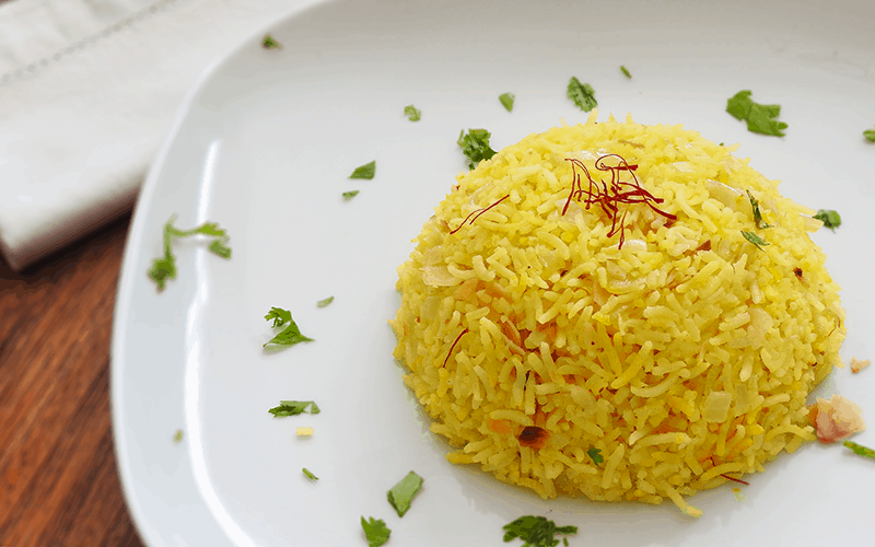 Saffront rice with basmati