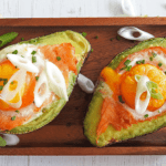 Smoked Salmon Avocado Egg Boats