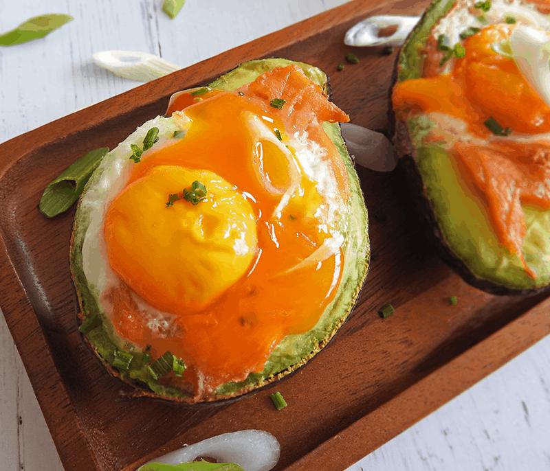 Smoked Salmon Egg Avocado Boats