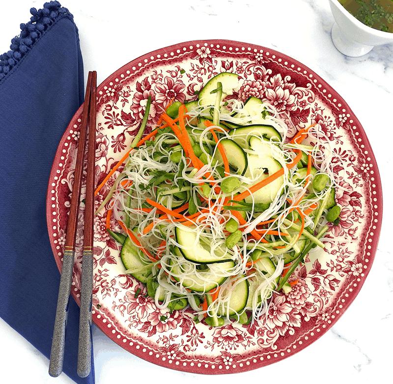 Rice Noodle Asian Salad Recipe