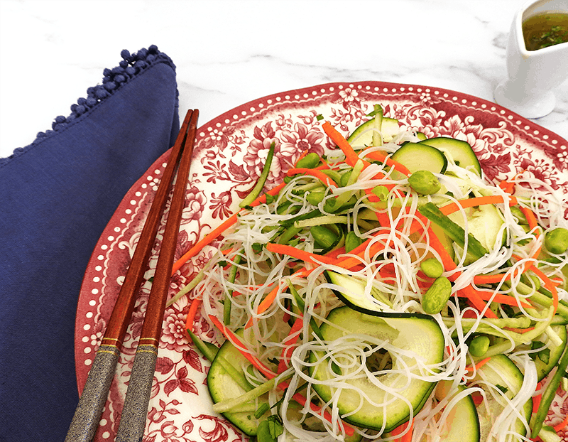 Asian Style Rice Noodle Salad