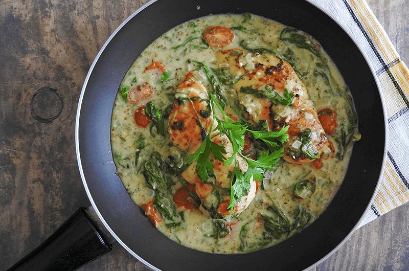 Creamy Spinach & Tomato Chicken