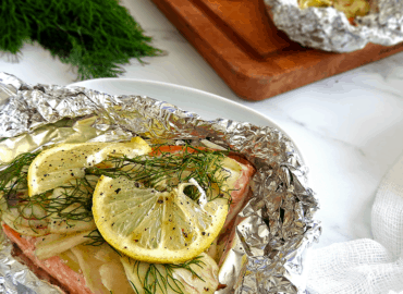 Fennel Salmon Foil Packet
