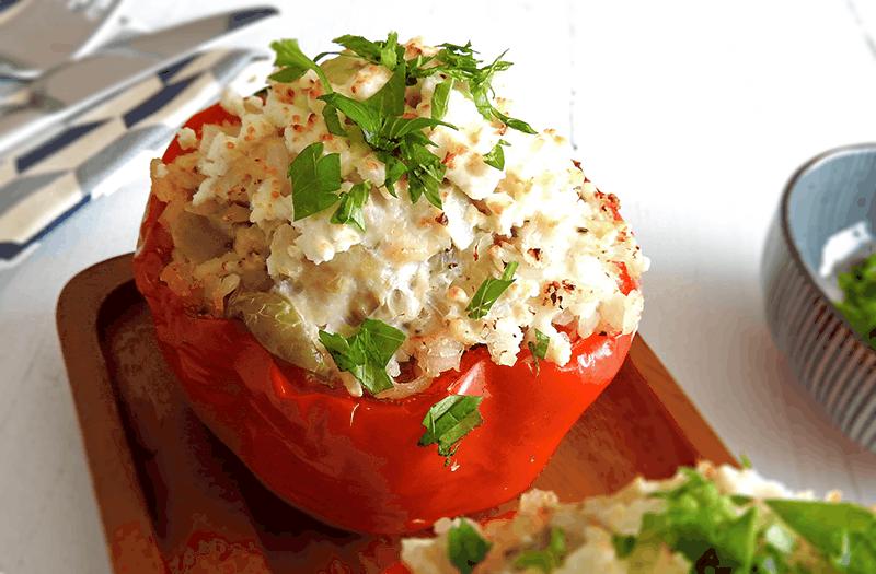 Slow Cooker Mediterranean Stuffed Peppers