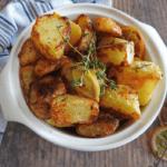 Garlic Lemon Thyme Roast Potatoes