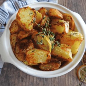 Garlic Lemon Thyme Roast Potatoes