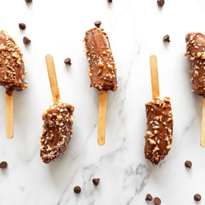Frozen Chocolate Banana lollies