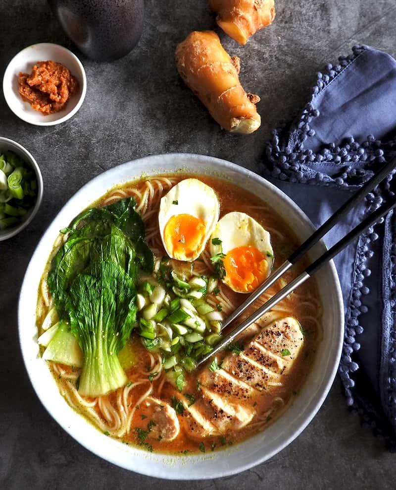 Easy Chicken Miso Ramen