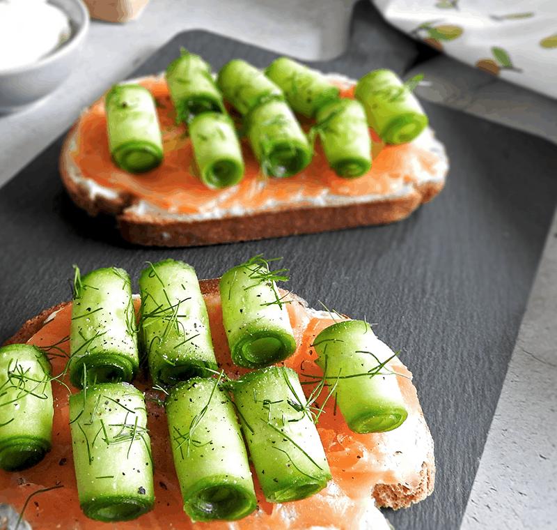 Fancy Salmon Cream Cheese Salmon Toast
