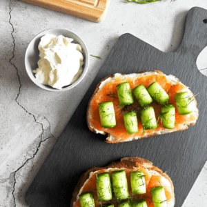 Salmon Cream Cheese Fancy Toast