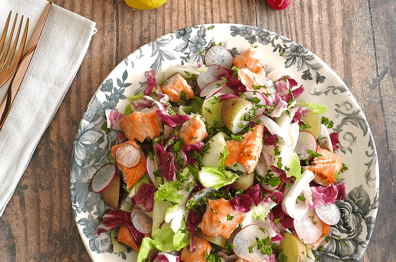 Honey Glazed Salmon & Endive Salad