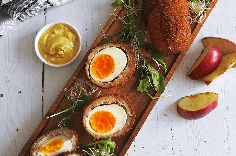 Apple Scotch Eggs