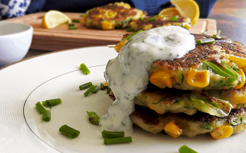 Courgette Halloumi Fritters