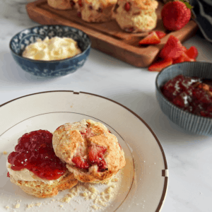 English Strawberry Scones