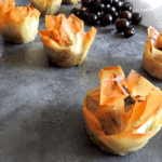 Grape & Stilton Filo Tarts