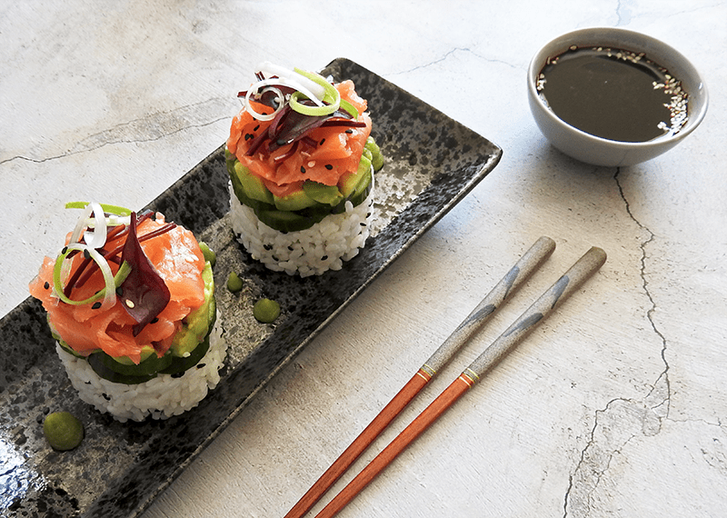 Salmon Sushi Stack Recipe