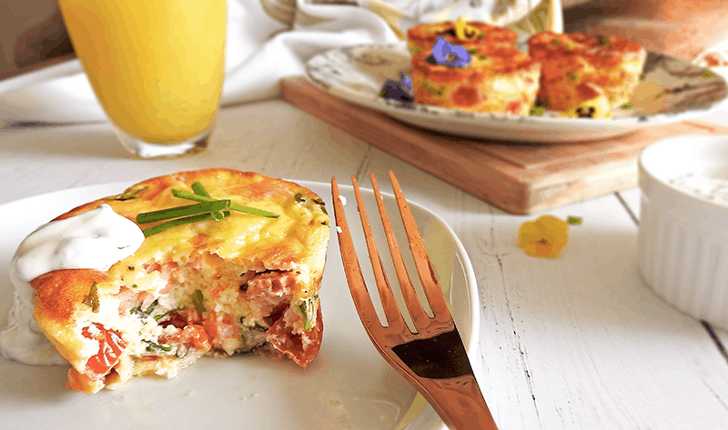 Smoked Salmon Egg Muffins