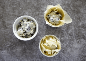 Stilton & Grape Filo Tarts Step 6