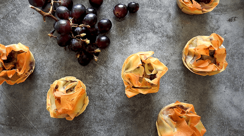 Stilton Grape Tarts