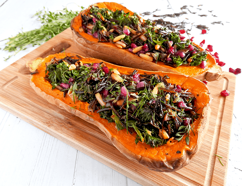 Stuffed Butternut Squah Vegan