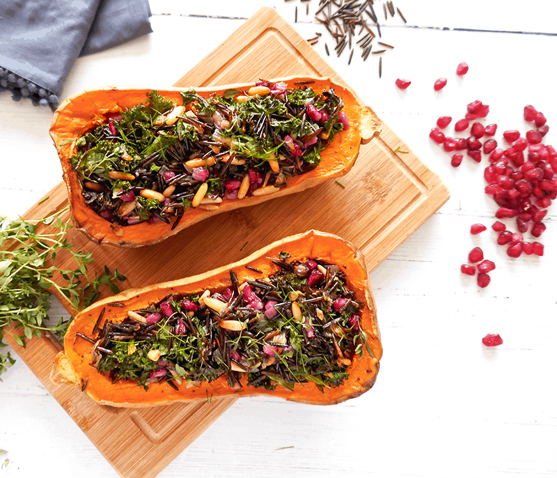 Vegan Stuffed Butternut Squash