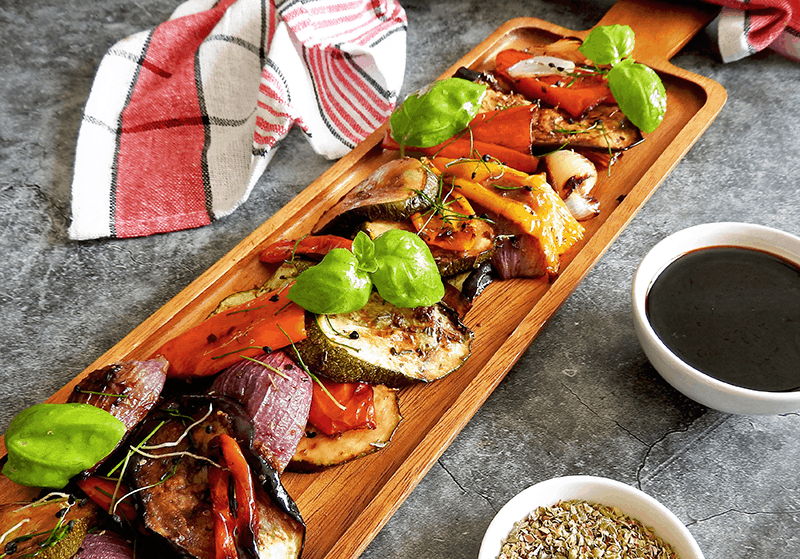 Balsamic Roasted Mediterranean Vegetables