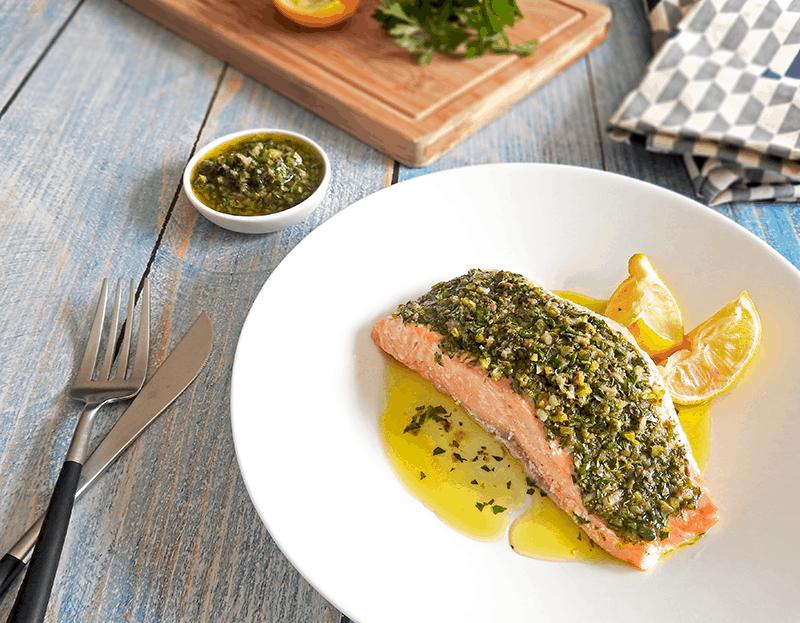 Italian Salsa Verde Salmon