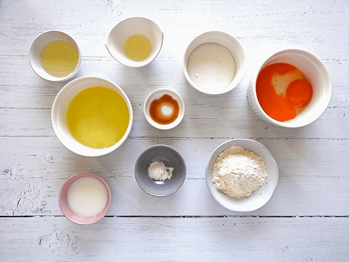 Japanese Souffle Pancakes Ingredients