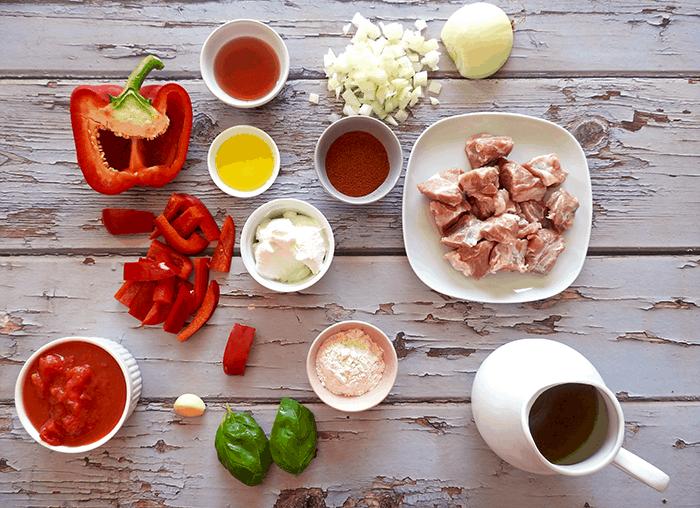 Pork Paprikash Ingredients