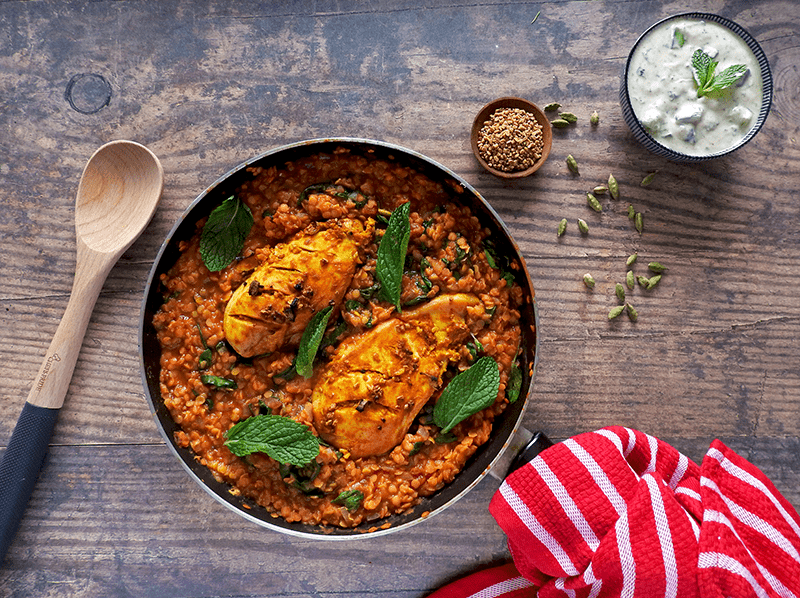 Red Lentil Chicken Curry