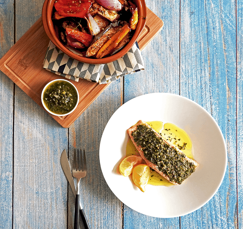 Salmon Italian Salsa Verde