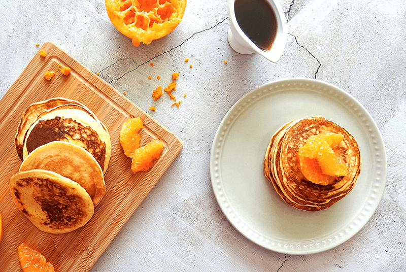 Scotch Mandarin Pancakes