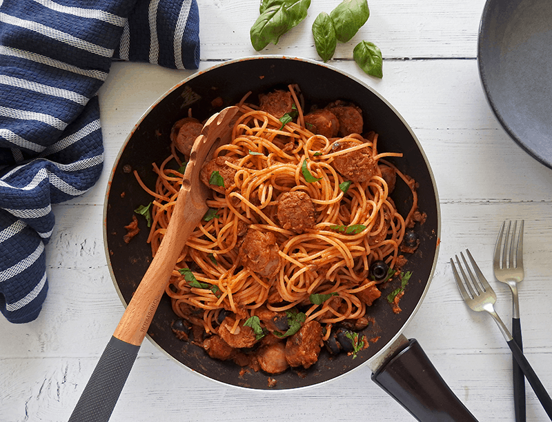 Spaghetti Puttanesa Sausage
