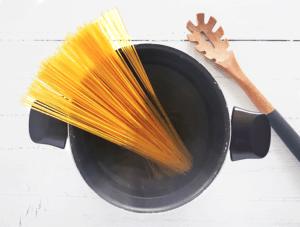 Spaghetti Sausage Puttanesca Recipe Step 3